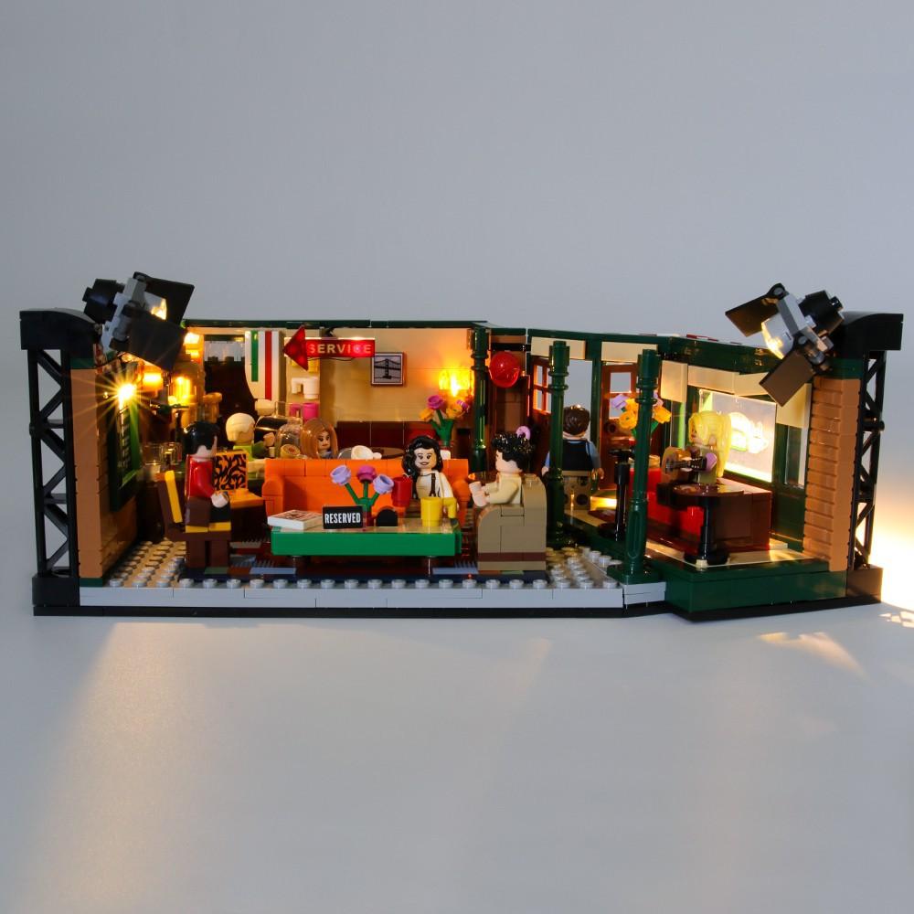 🎉QMI🎉 積木燈組 相容樂高 21319 六人行 中央公園咖啡館 老友記 Lego Friends