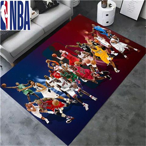 NBA  NBA籃球個性創意地毯客廳臥室床邊陽臺卡通電腦椅門墊轉椅墊地毯