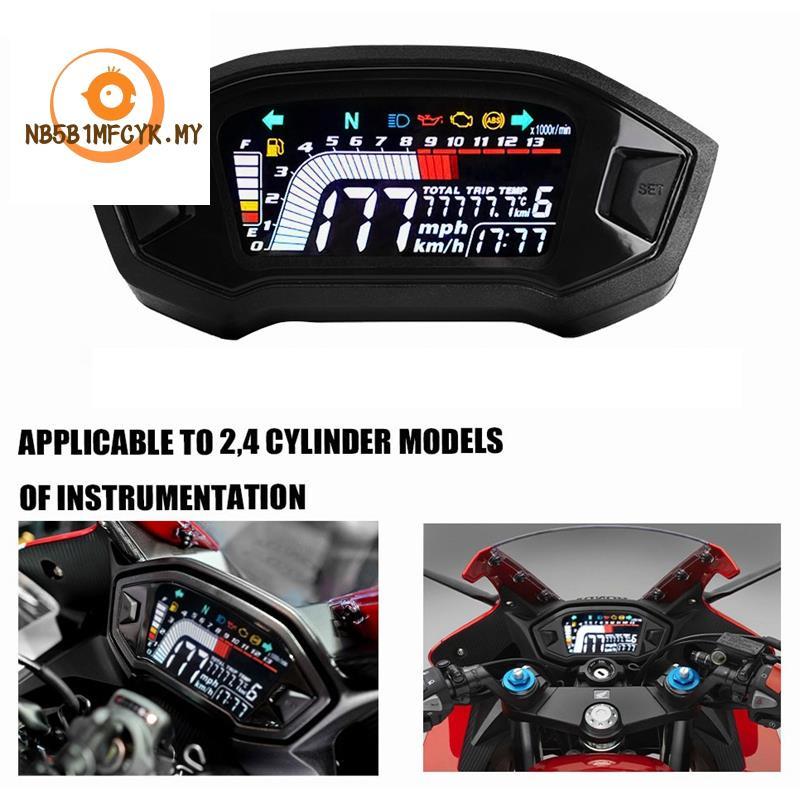 Universal Motorcycle LCD Digital Speedometer 13000RPM Backli