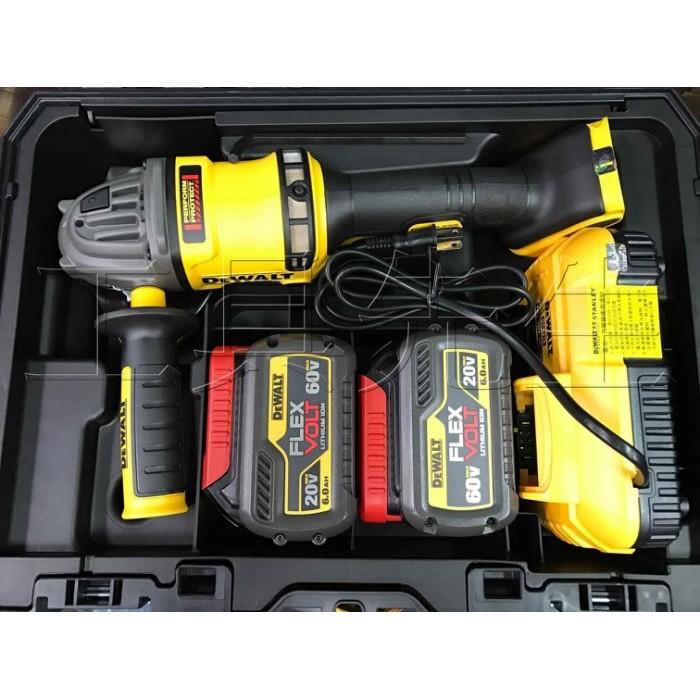 含稅價/DCG414T2/搭6.0電池x2 【工具先生】DEWALT 得偉 60V MAX 無碳刷 5吋 充電式 砂輪機