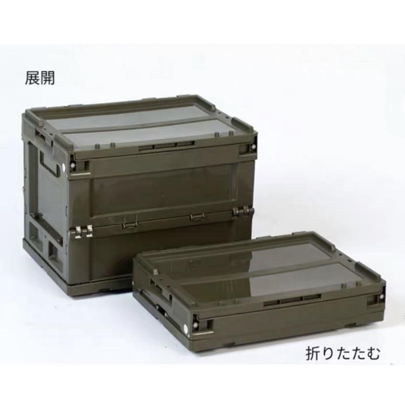 日本夯物-軍風折疊側開收納箱 居家收納 側開收納箱 折疊收納箱 露營收納箱 露營 戶外
