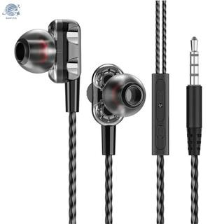 Bf 3.5mm 有線耳機降噪耳塞便攜式入耳式耳機運動耳機與 iOS Android 智能手機 MP3 播放器兼容