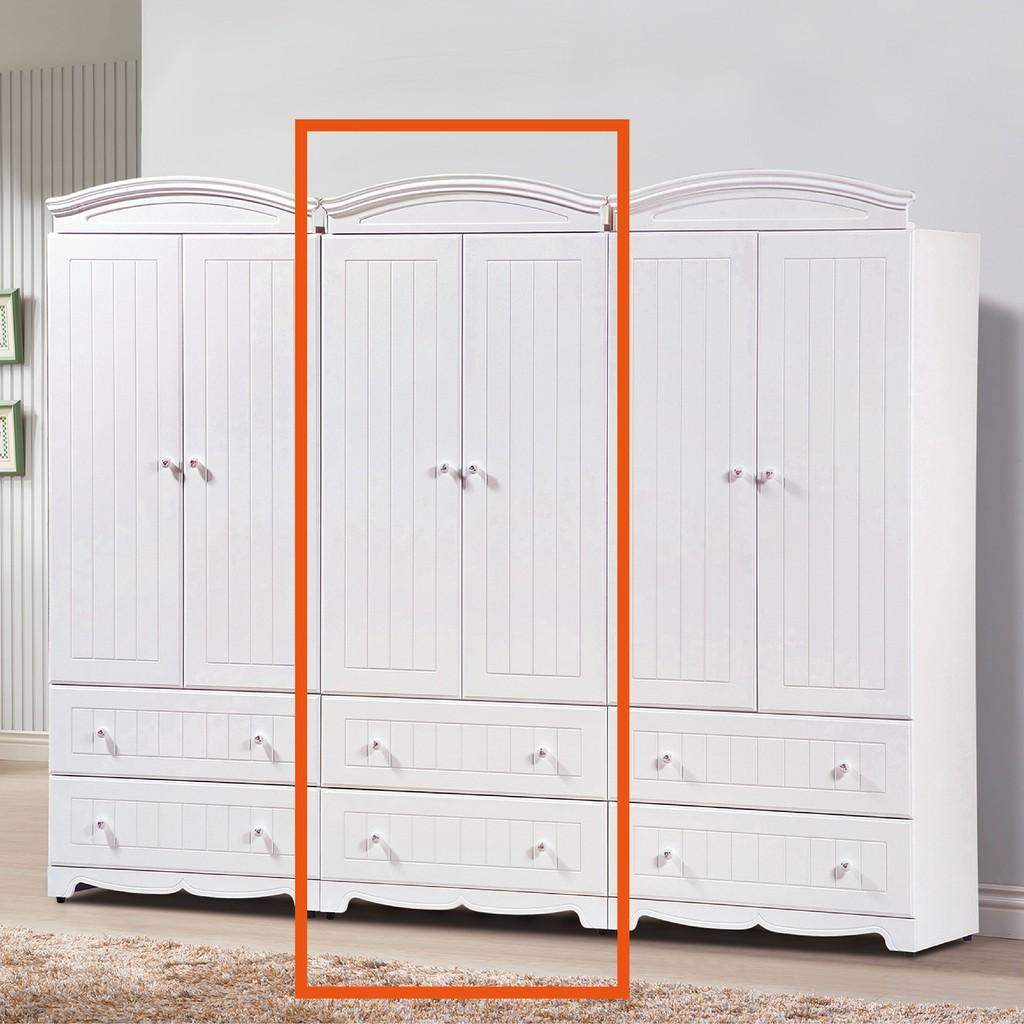 【80cm衣櫃-B141-02】木心板 推門滑門開門 衣服收納 免組裝【金滿屋】