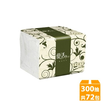 優惠賣場(免運費)優活300抽x72包單抽式柔拭紙巾 衛生紙 餐飲業最愛 餐巾紙