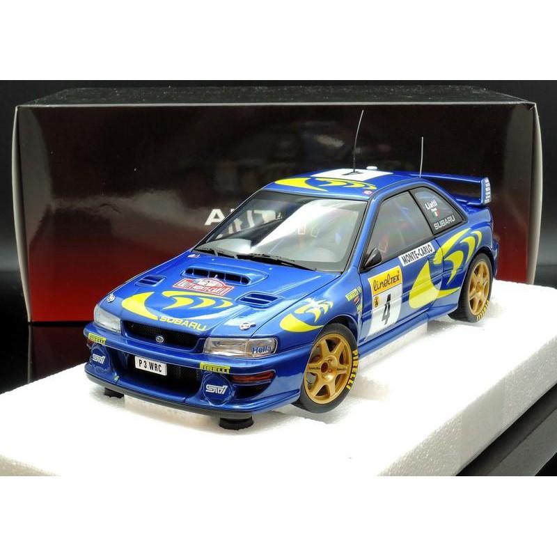 出清特價 Autoart 1/18 SUBARU IMPREZA WRC 1997 #4 蒙地卡羅 MASH