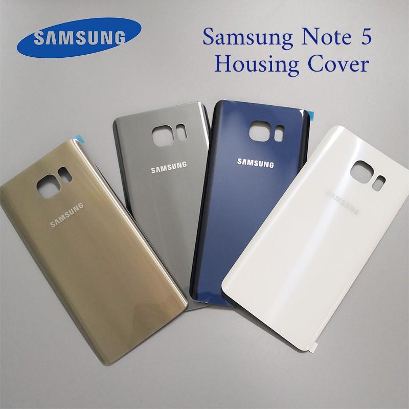 適用於三星Galaxy Note 5 玻璃背蓋 電池後蓋 背蓋 電蓋 外殼更換 後蓋玻璃 帶背膠鏡頭框 鏡片 現貨