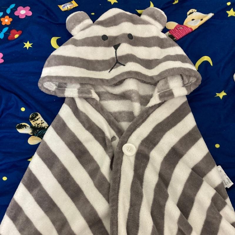 CRAFTHOLIC 宇宙人 經典條紋熊 造型保暖兩用披肩
