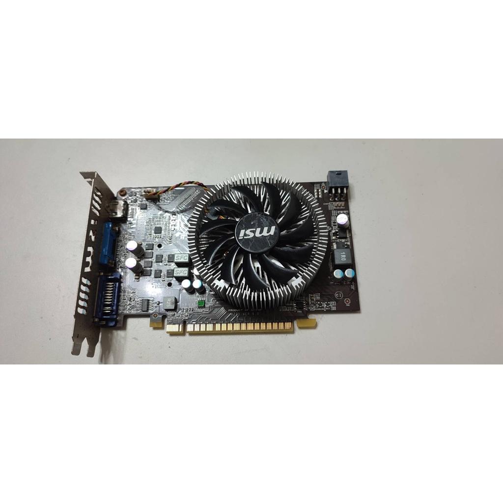 #341 MSI GTS450-1GD3 顯示卡 檔板生鏽 需接6PIN供電 N450GTS-MD1GD3V2