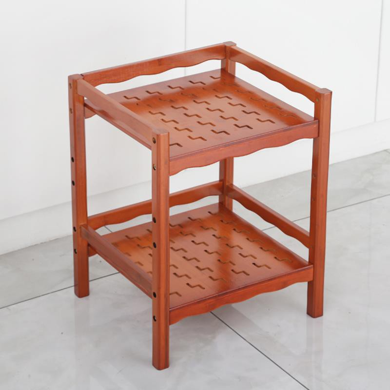 BH惠客隆【隔板可調】楠竹多功能層架茶杯架茶水架置物架麻將桌邊角