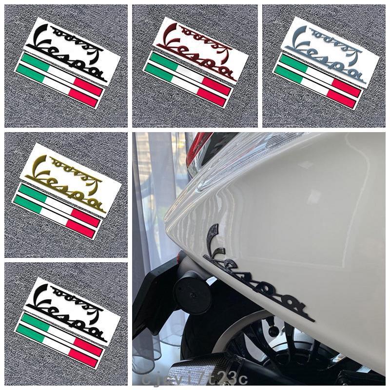【鬼火】3D摩托車標誌貼紙Sprint Primavera PIAGGIO Vespa GTS300 LX125 LX1