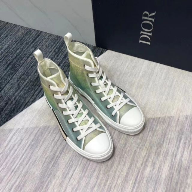 [Fashion City] DR B23 Oblique High Top Sneakers 綠地