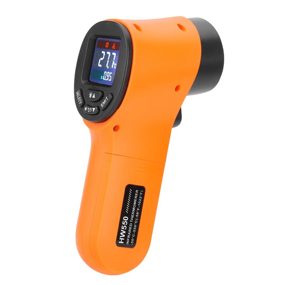 HW550工業紅外線測溫槍非接觸式測溫儀手持式測溫槍電子溫度計溫感應式紅外線掃描儀
