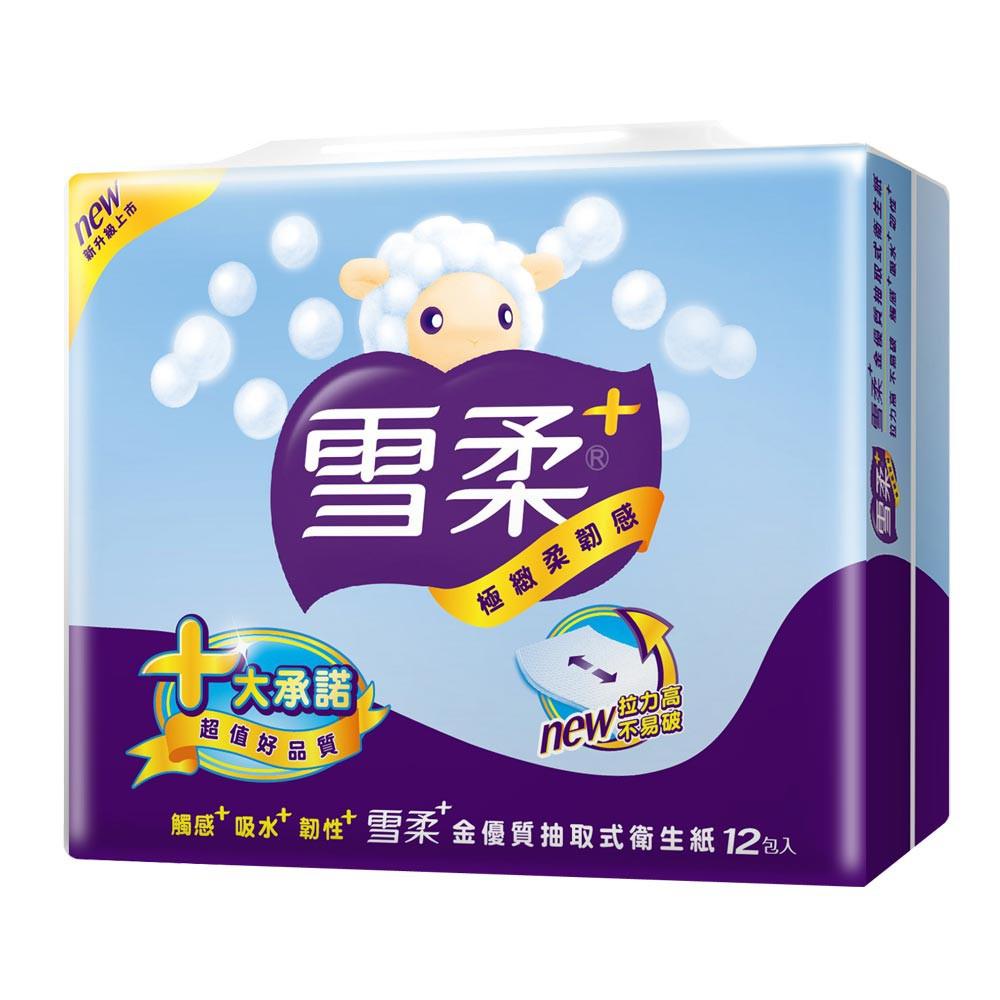 雪柔抽取式衛生紙(100抽x72包/箱)
