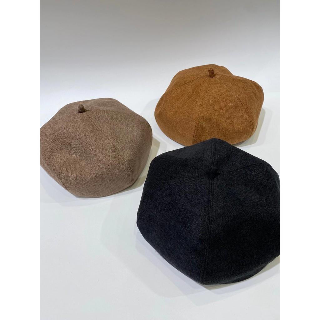正韓毛呢料畫家帽 英倫貝蕾帽 帽子 毛呢帽 韓國 韓製 毛呢帽 GRASS 現貨 [F185]