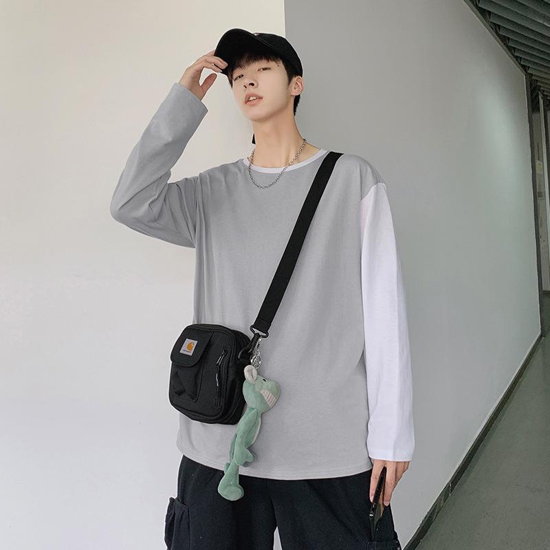 男式長袖T卹男 青年圓領打底衫