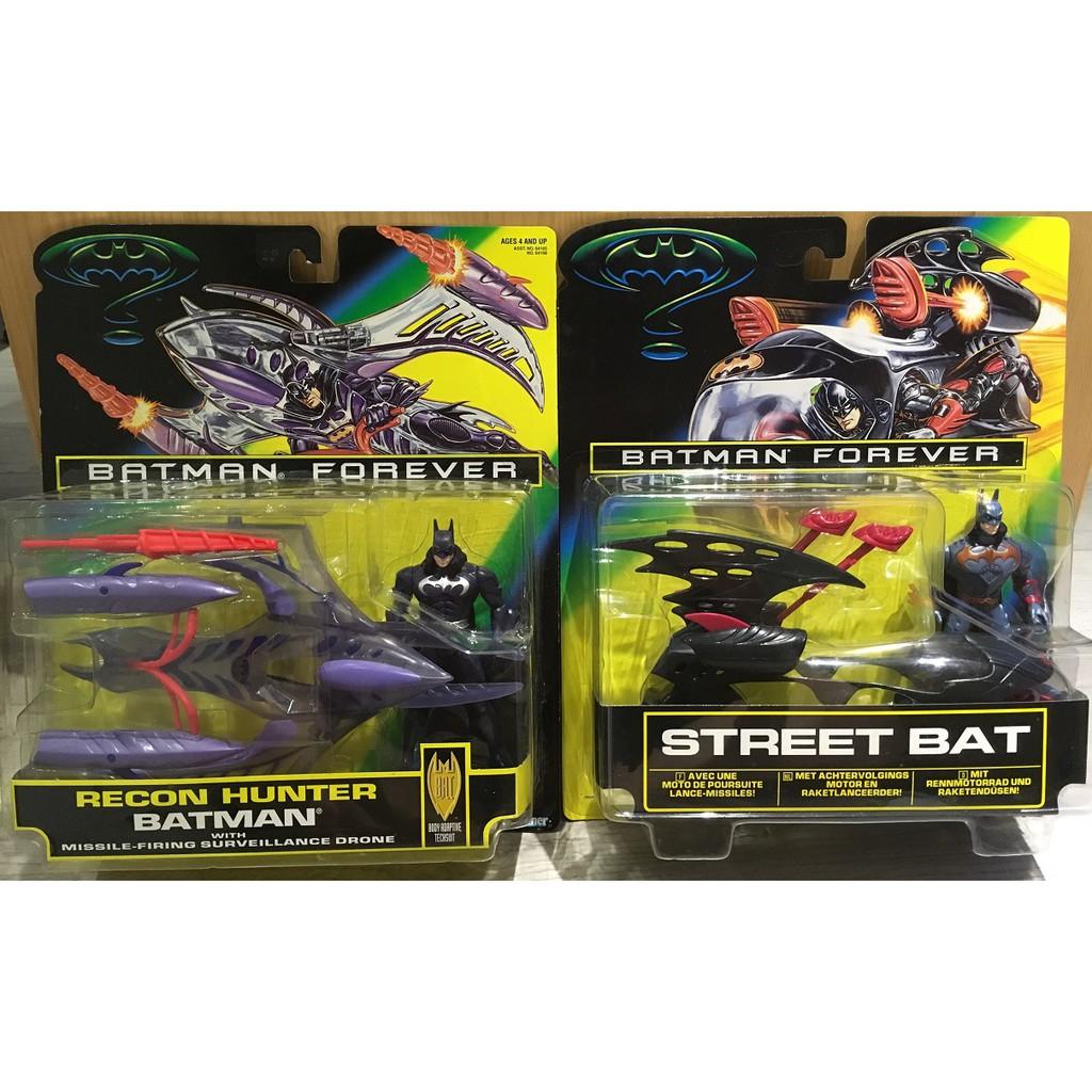 [蝙蝠俠023]Kenner 1995 Batman Forever 人偶載具組 (飛行器+機車) 合售 武器可發射