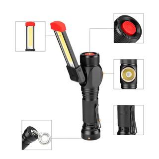 超級多功能工作燈 強磁+摺疊+掛勾+18650電池可更換+usb直充 手電筒 LED工作燈 台南市