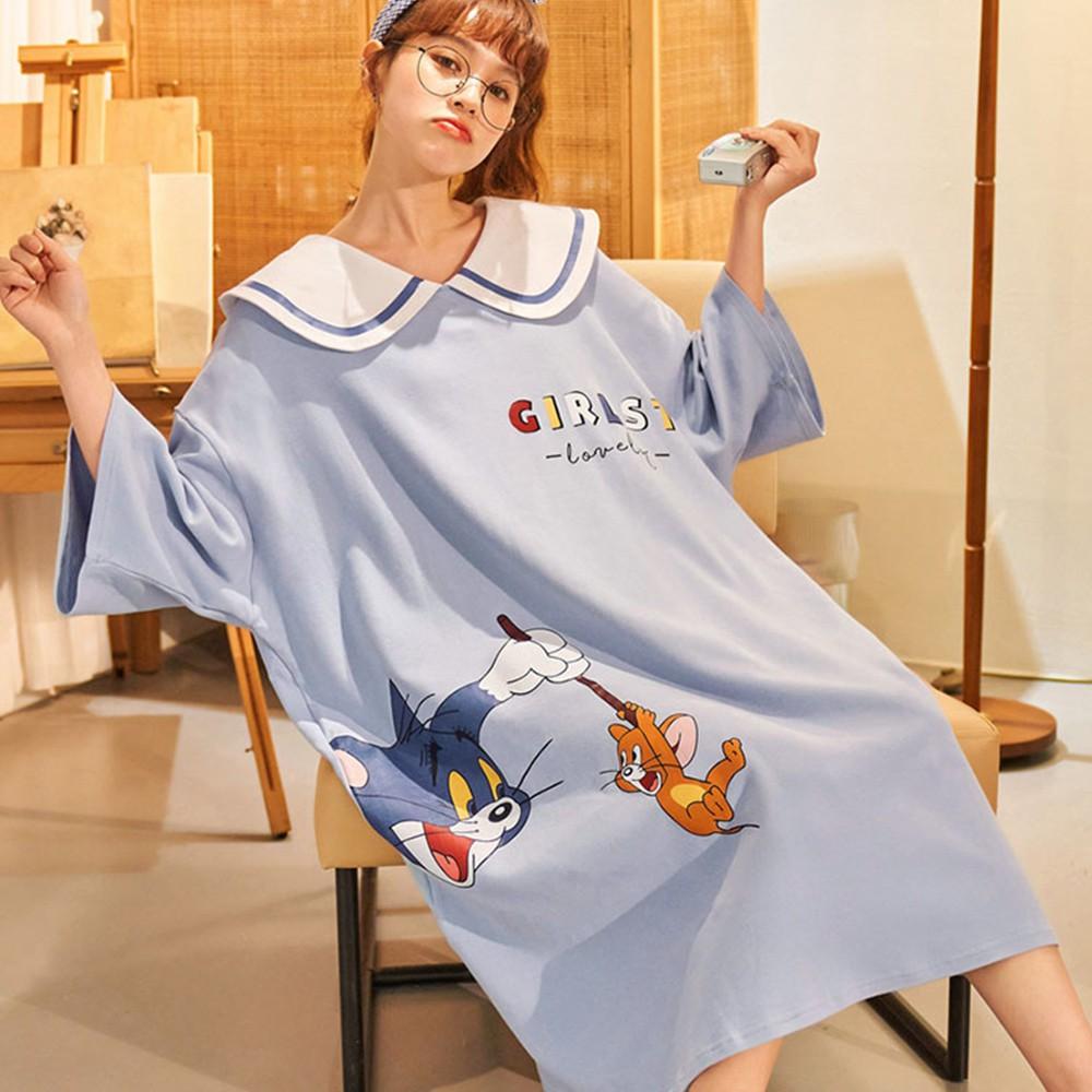 【Wonderland】湯姆傑利100%棉寬鬆大碼睡裙