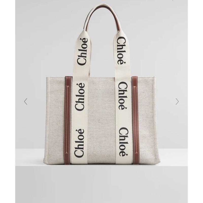 【kiki in Japan日本代購】Chloe woody tote bag 帆布托特包 中款