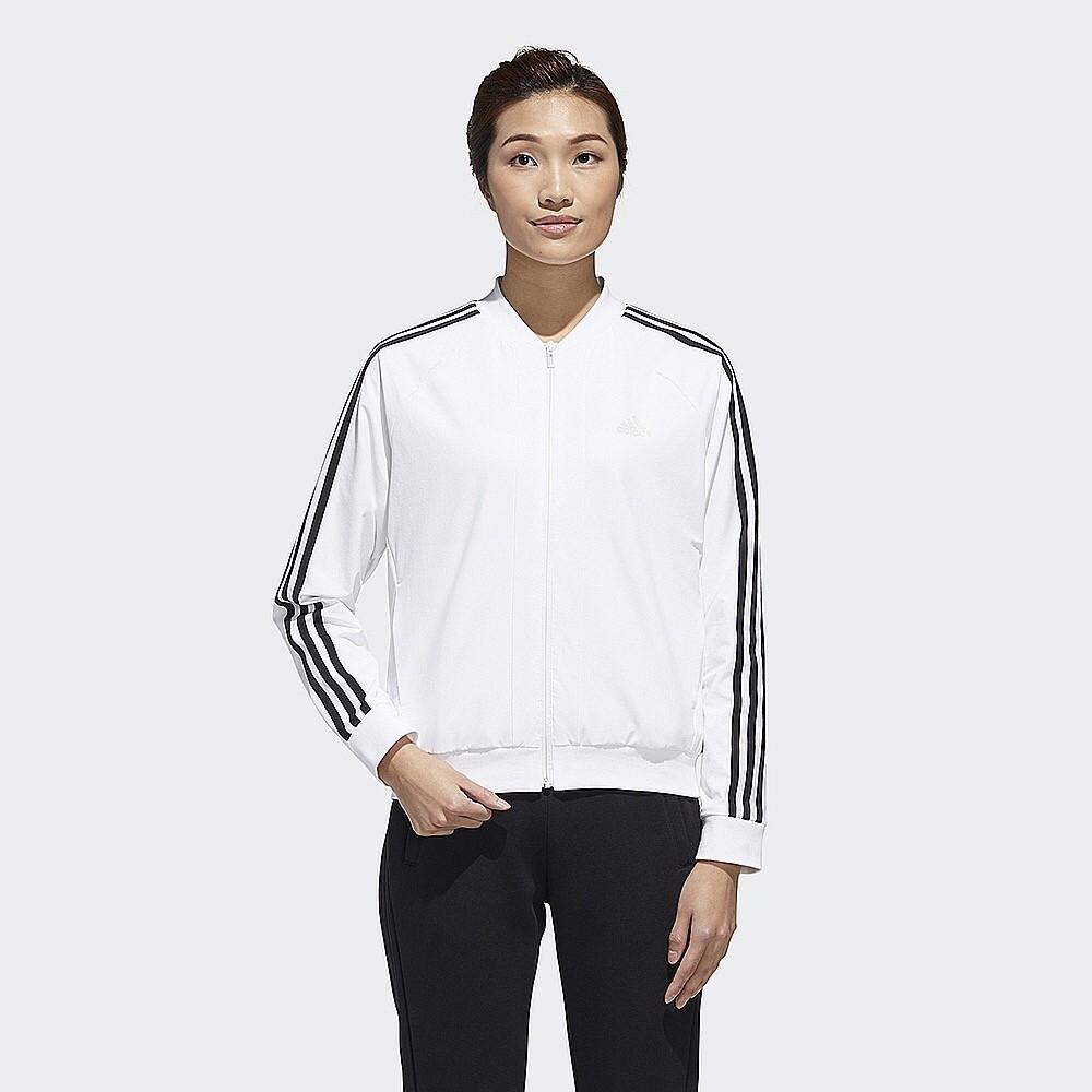 【AIRWINGS】ADIDAS GF0182 女性白色3-STRIPES三線運動外套