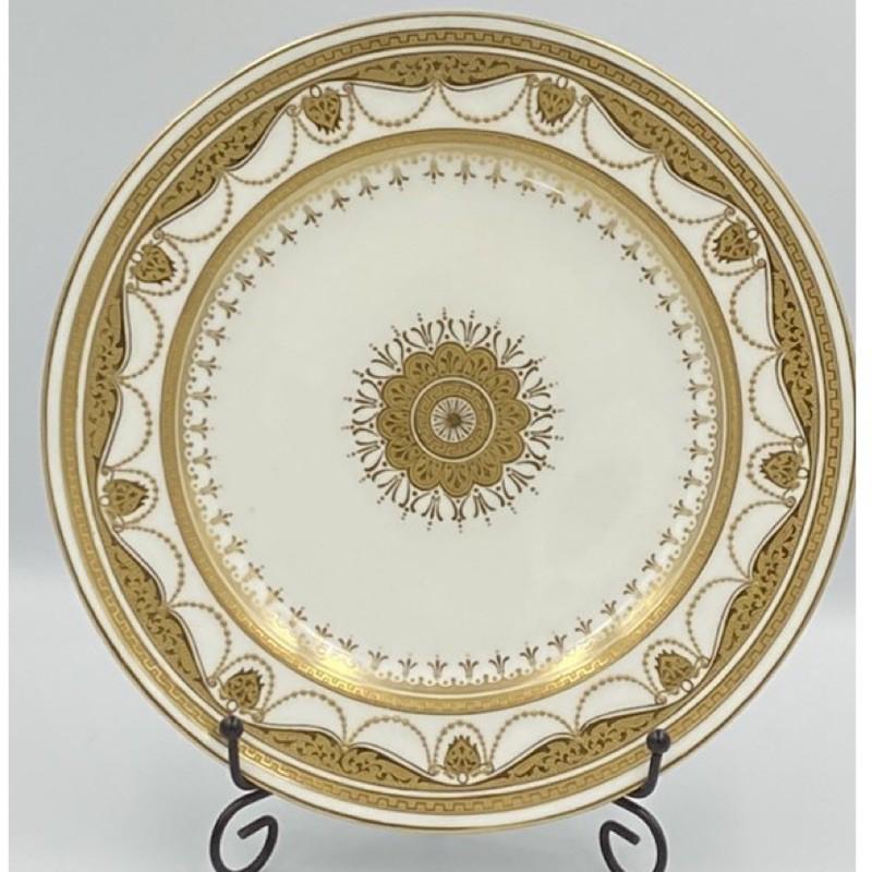 法國明頓(Minton)24K金豪華飾盤