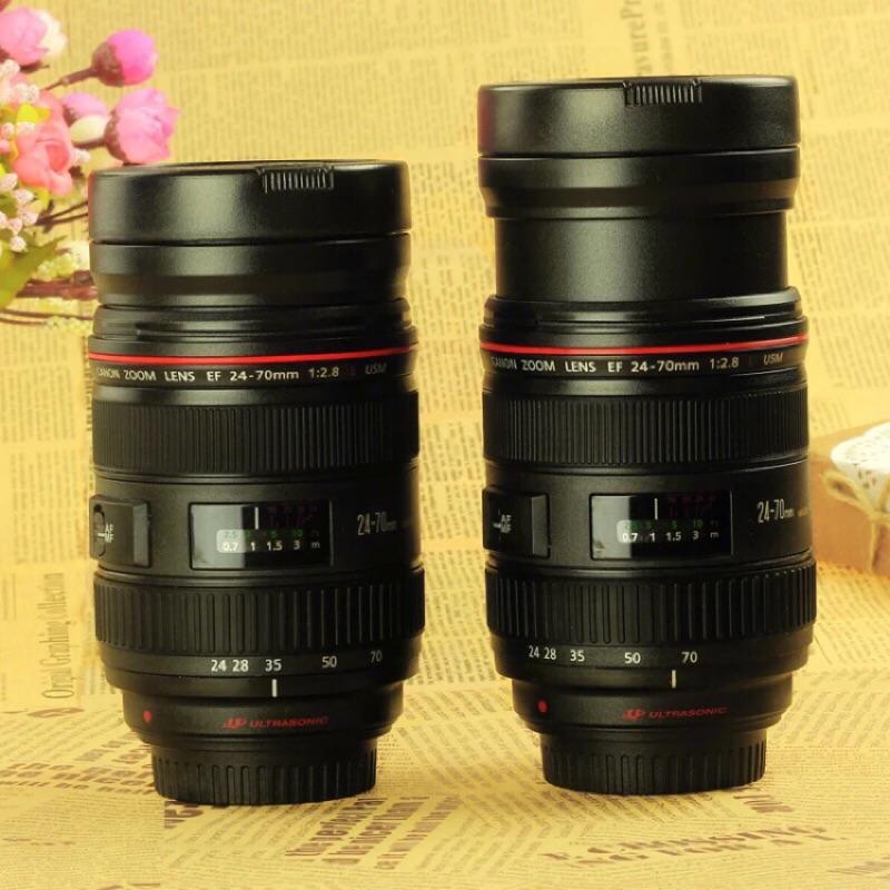 Canon 鏡頭杯 香港正品 造型杯 杯子 隨身杯 攝影鏡頭 伸縮杯 不鏽鋼杯 304不鏽鋼 保溫杯