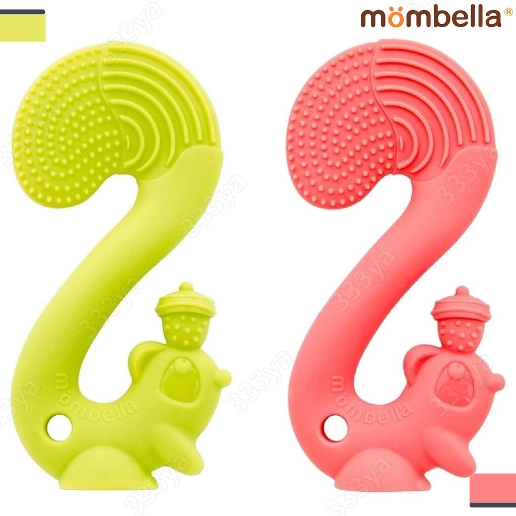 英國Mombella-萌萌小松鼠固齒器-橘