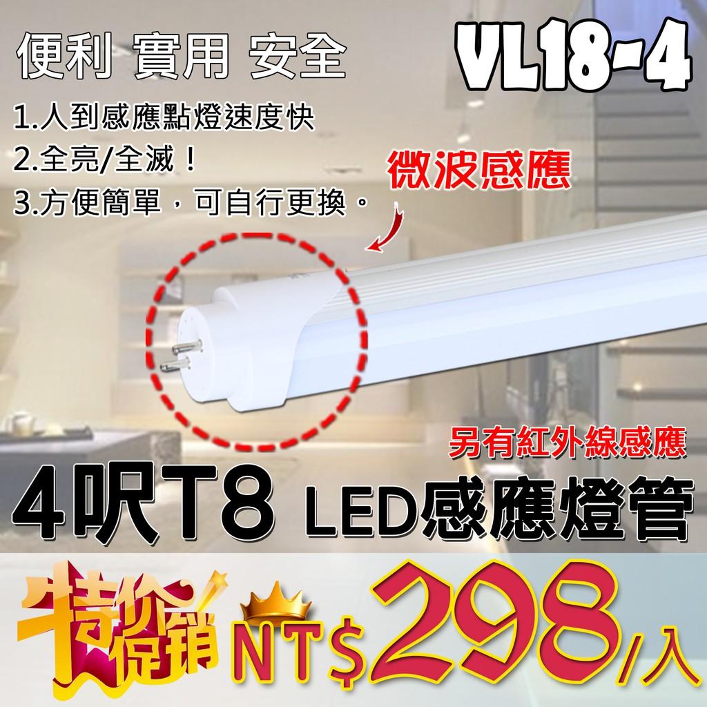 獨家熱賣【阿倫旗艦】(SAVL18-4) LED感應燈管 T8紅外線燈管 4尺 20W 全亮全滅 紅外線感應