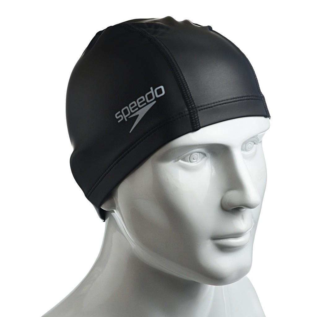✨鐘友體育✨現貨 speedo 成人合成泳帽 pace黑 SD8720640001