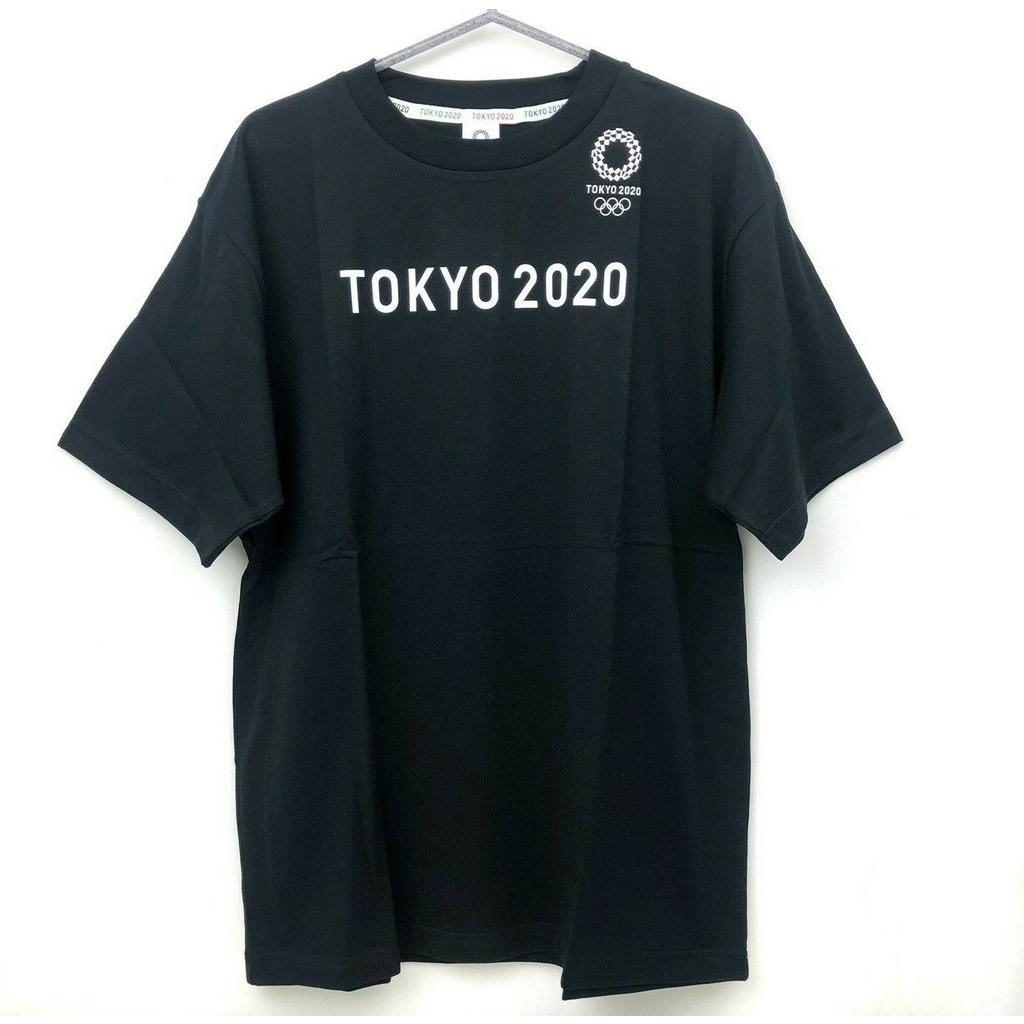 東京 2020 年奧運男士 T 卹標誌 XL 官方商品日本黑色 NWT