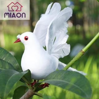 新品上線折扣 和平鴿仿真白鴿婚慶商場裝飾羽毛鴿子綠植綁樹枝展翅鴿(8916小飛鴿)