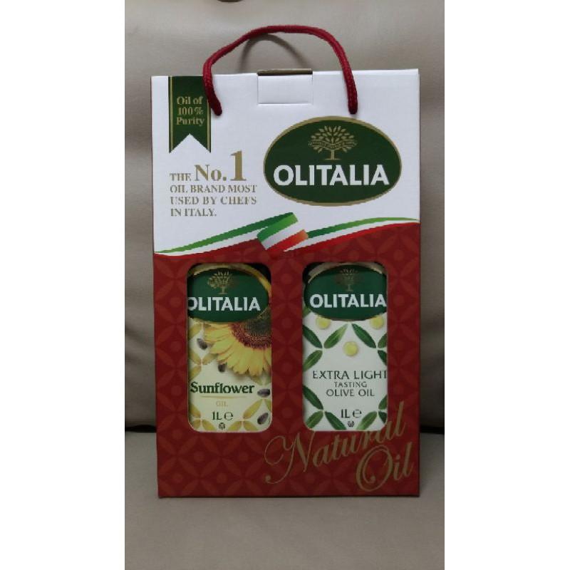 OLITALIA 奧利塔精緻橄欖油、奧利塔頂級葵花油禮盒(各1公升)