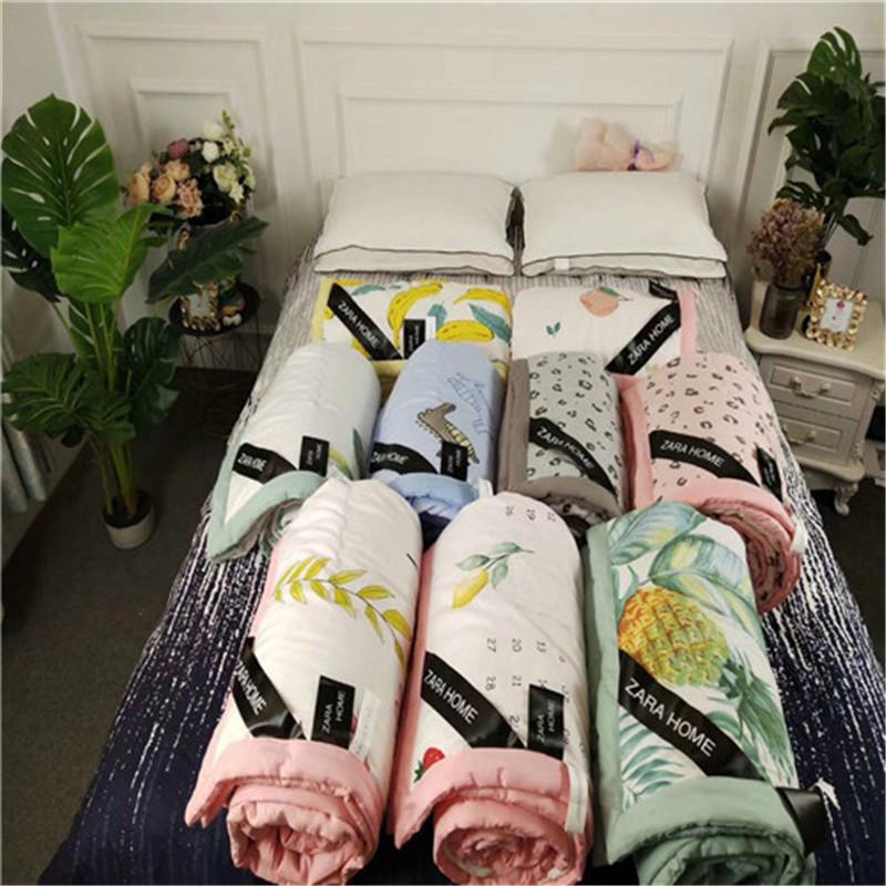 爆款Zara home夏被水洗棉夏涼被雙人空調被會銷禮品被