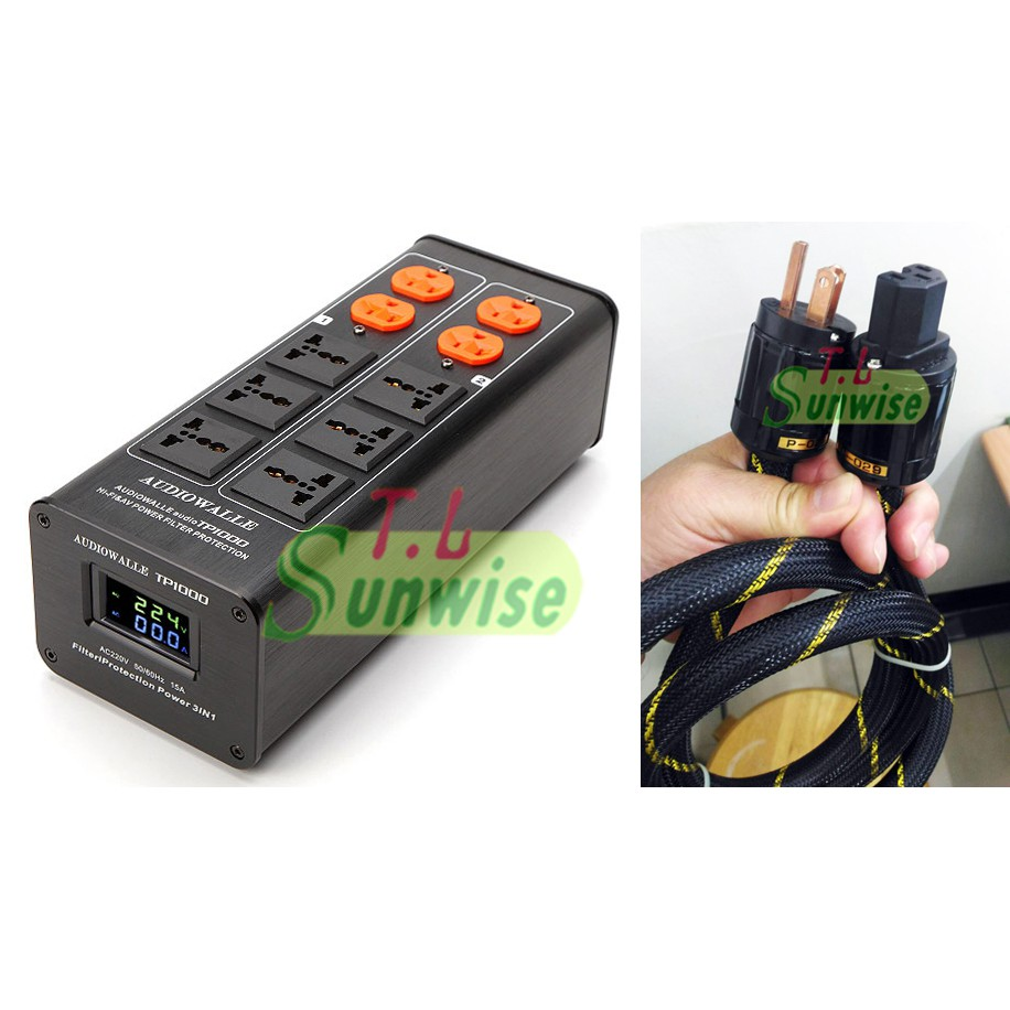 TP1000 電源濾波器 +1.5米 美國怪獸 電源線 簽名版 雙顯示 LED版 AUDIOWALLE 升級 AC8.8