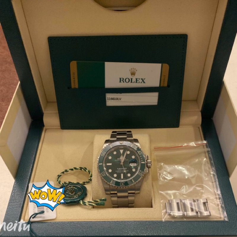 ROLEX 勞力士 116610LV 綠水鬼