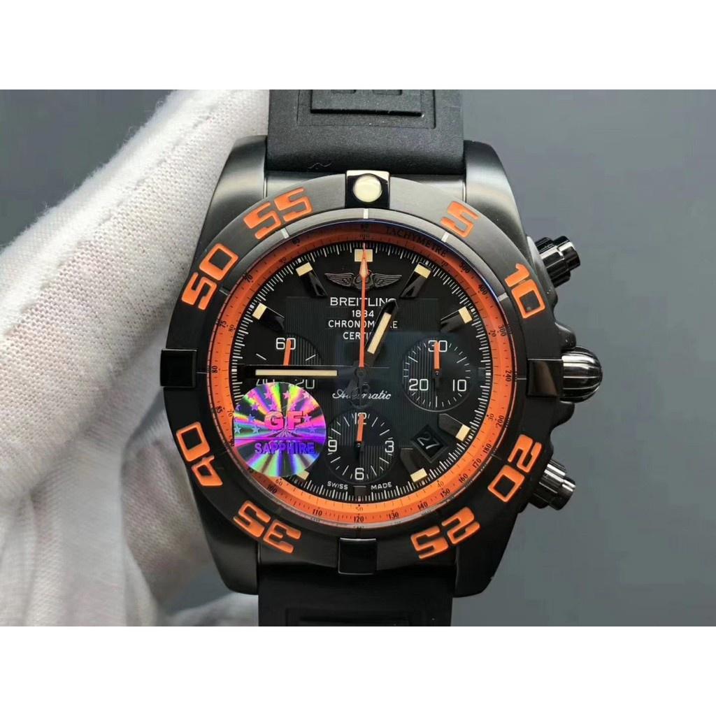 Breitling 百年靈 GF 黑鷹 Chronomat 44 Raven 7750 機芯 機械錶男士腕錶