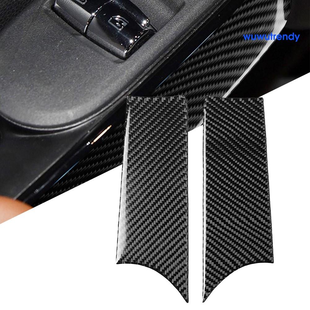 MINI COOPER Wu 2pcs 迷你 Cooper F56 汽車貼花裝飾汽車內門把手貼紙貼花裝飾