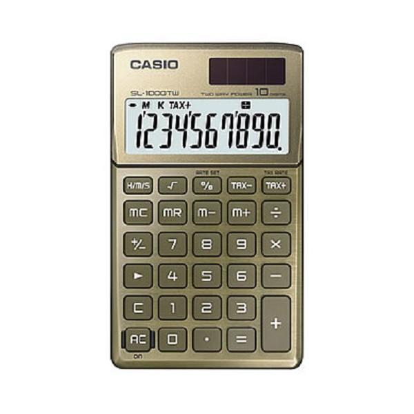CASIO 10位元計算機SL-1000TW(BU)
