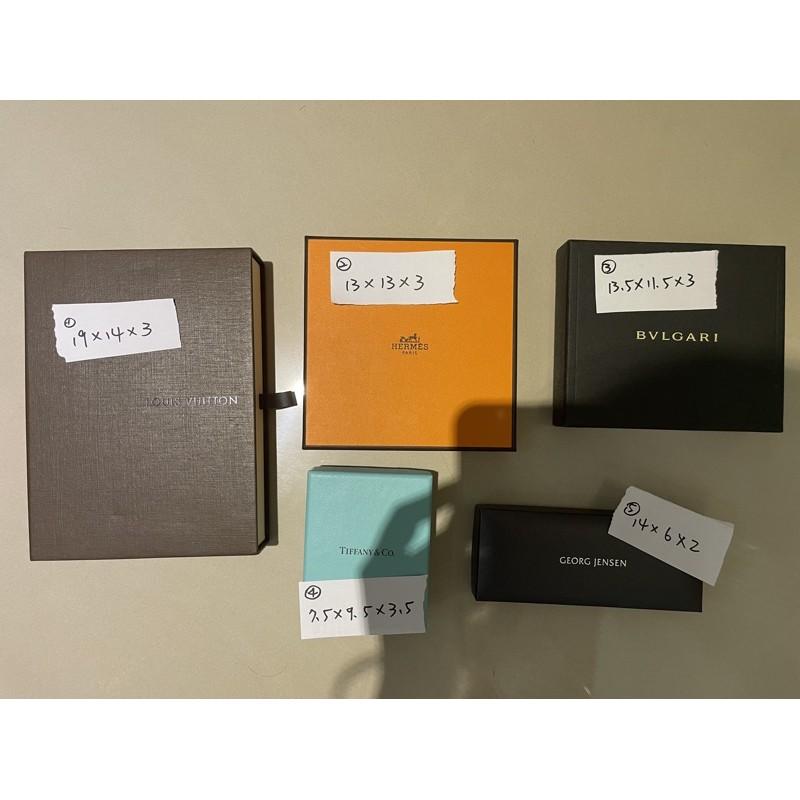 專櫃正品 LV HERMES BVLGARI TIFFANY&CO GEORG JENSEN Ferragamo 盒子