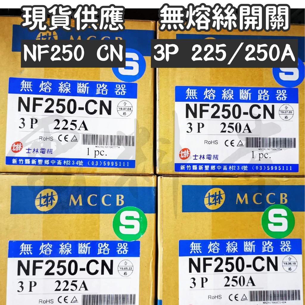 【電子發票 公司貨】士林電機 NF250-CN 2P 3P 125A~250A 無熔絲開關 NFB 動力型