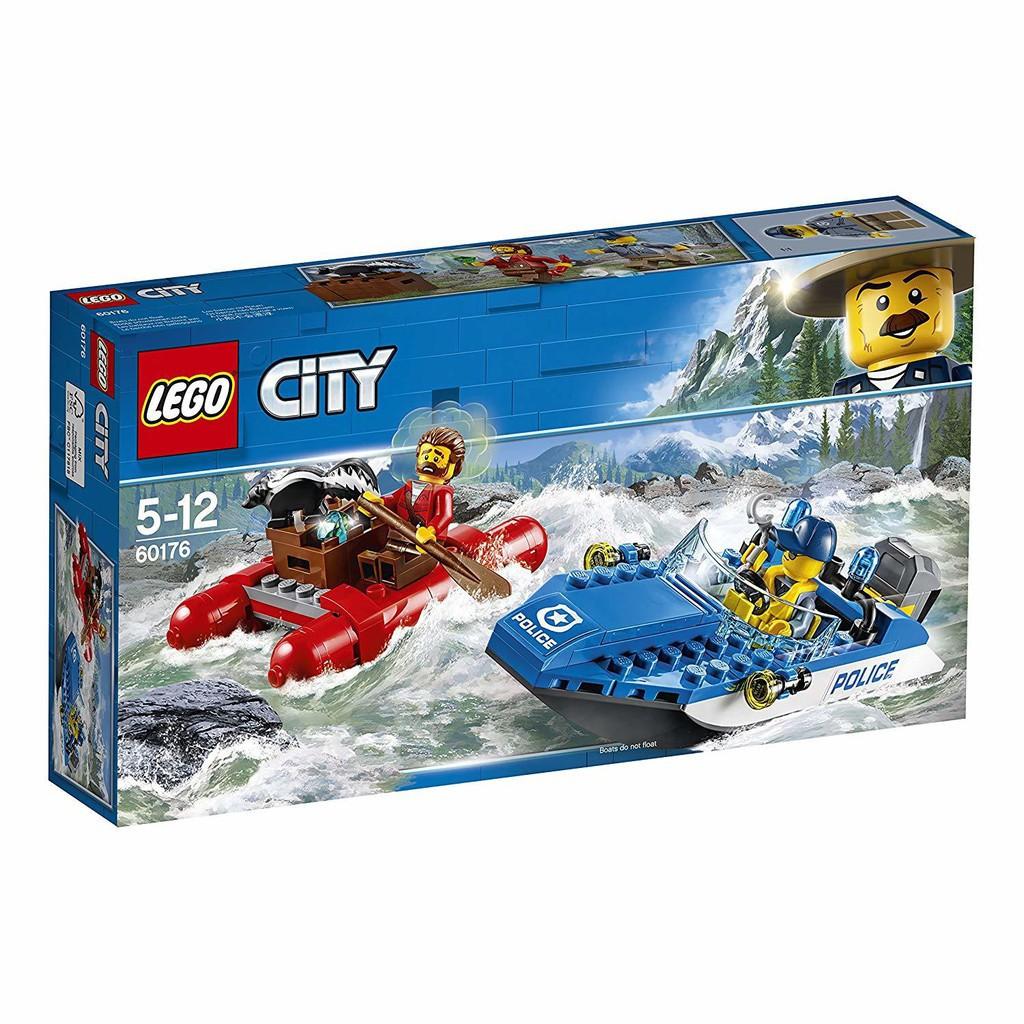 【正品保障】包郵 LEGO/樂高積木 60176城市系列激流追擊益智積木#CHUSE