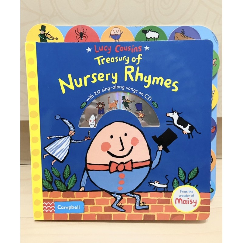 LUCY COUSINS TREASURY OF NURSERY RHYMES/硬頁書+CD