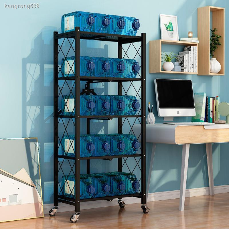 免安裝廚房客廳衛生間折疊架子落地推車式多層多功能收納架置物架