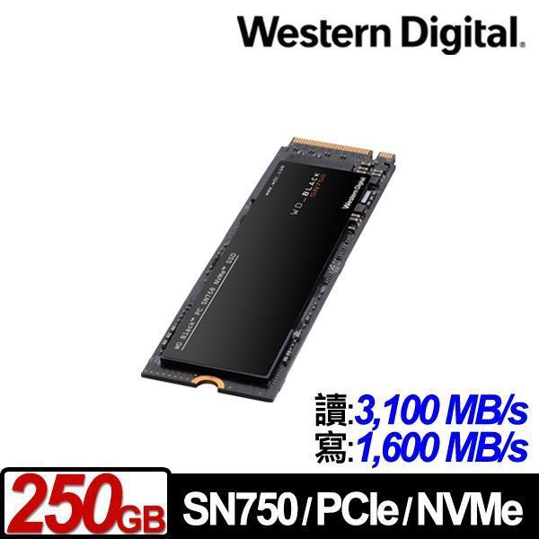 WD威騰 SN750 1TB 黑標 M.2/SSD固態硬碟/五年保