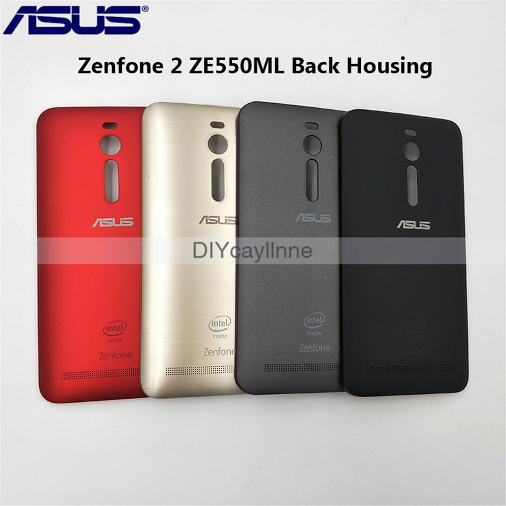 原裝華碩後蓋保護套 Zenfone 2 Ze550Ml Ze551Ml 後電池門後殼維修盒塑料更換零件 5.5 英寸