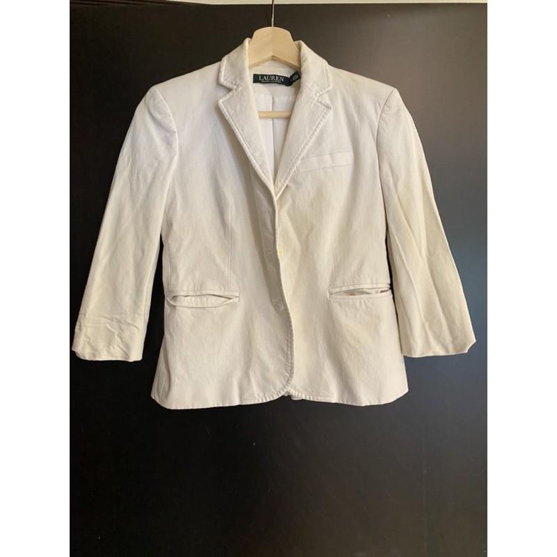 Banana Republic 七分袖西裝外套。二手百元商品