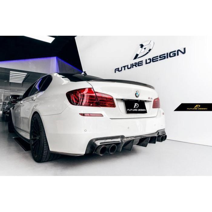 【Future_Design】BMW F10 M5 V款 1:1 抽真空 碳纖維 卡夢 後下巴 後中包535 M5
