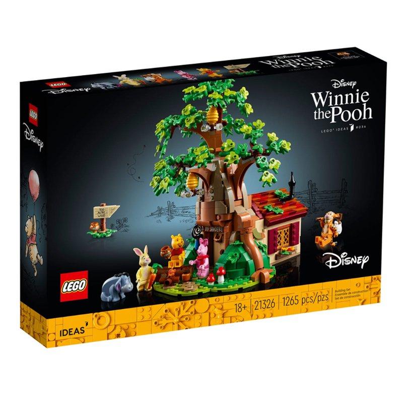 LEGO樂高 21326小熊維尼迪士尼系列益智拼搭男女孩積木玩具禮物