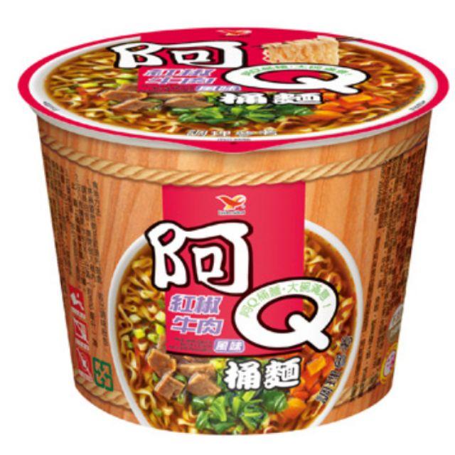 統一阿Q桶麵紅椒牛肉風味3入105元