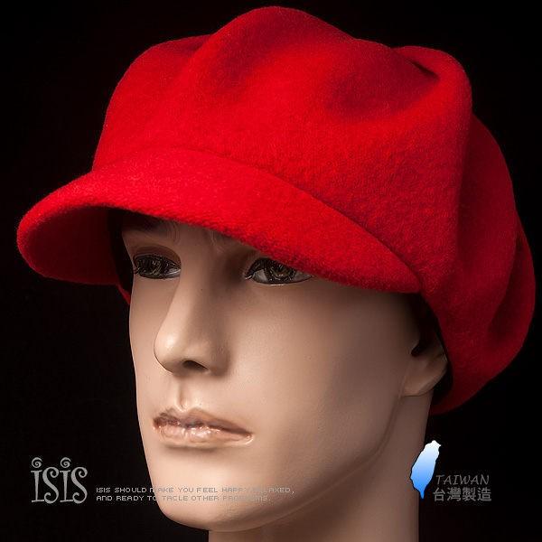 KURO-SHOP台灣製造 100%純羊毛 灰色純羊毛簡約設計  報童帽